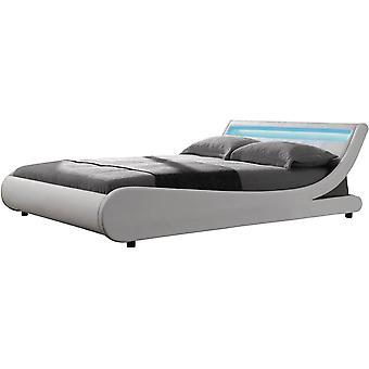 """LED bed """"Natacha"""" - 140 x 190 cm - Wit"""