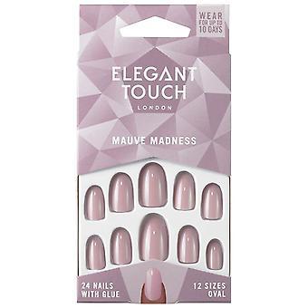 Elegant Touch Mauve Madness Uñas Postizas 24 uds