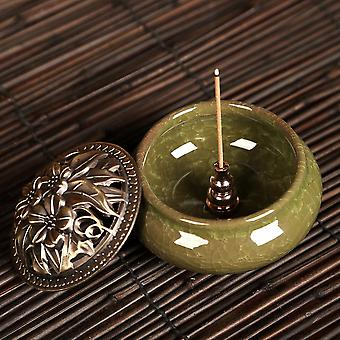 Portable Copper Holder Can Be Fixed Incense Sticks And Coil Burner Censer High