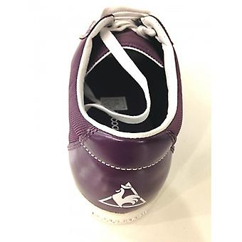 Men's Shoes Sneaker Le Coq Sportif Nylon Plum and Leather Series 4