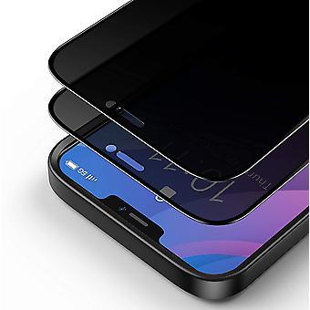 "HanFei Privacy Panzerglas Schutzfolie fr iPhone 12 Pro Max 6.7"" [2 Stck], 3D Vollbild Sichtschutz"