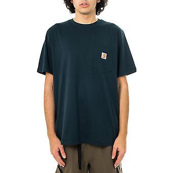 Camiseta para hombre carhartt wip s / s camiseta de bolsillo i022091.0au