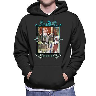 ピクサーブレイブメリダブレイブストロングビューティフルメン&アポス;sフード付きスウェットシャツ