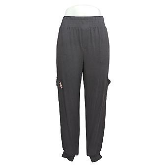 Anyone Women's Pants Cozy Knit Cargo Jogger w/ Pockets Gray A310051