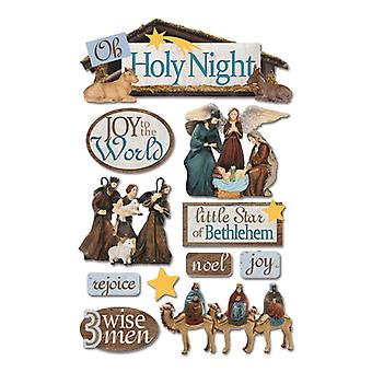Paper House Productions - 3D Stickers - Holy Night