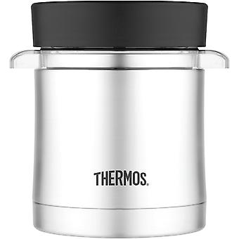 Thermos 12 oz. RVS voedsel Jar w / Microwavable Container - zilver/zwart