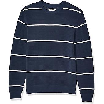 Brand-Goodthreads Mænd 's Soft Cotton osmanniske Stitch Crewneck Sweater, Navy Heather Grey Stripe XX-Large