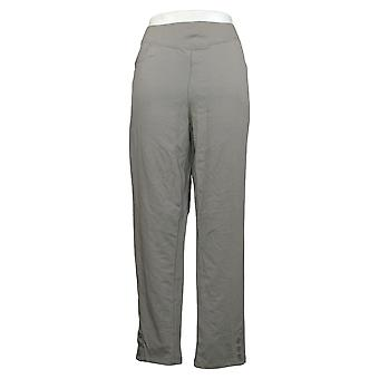 Denim & Co. Women's Pants Active French Terry V-Yoke Pull-On Gray A391932