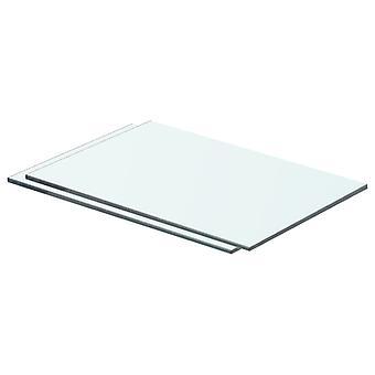 vidaXL hyllyt 2 kpl. lasi Läpinäkyvä 40 x 20 cm