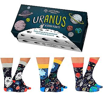 Boxed Men's Uranus Planet Socks