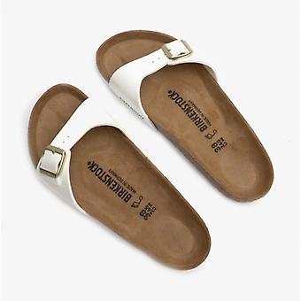 Birkenstock Madrid 1005309 (REG) damer Birko-Flor en rem sandaler patent White