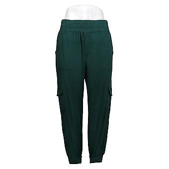 AnyBody Pantalons pour femmes Petite Cozy Knit Cargo Jogger Green A310165