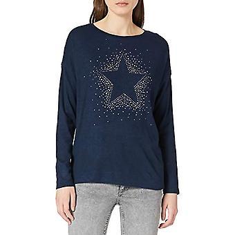 Springfield Camiseta Estrella Cristales T-Shirt, Medium Blue, XL Woman