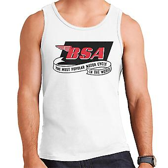 BSA Most Popular Motor Cycle In The World Logo Men's Vest