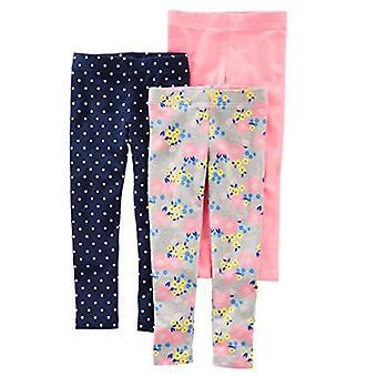 Simple Joys by Carter's Girls' 3-Pack leggingsit, Navy/Pink/Denim, 24 Kuukautta