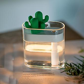 Clear Cactus Ultrasonic Air Humidifier 160ML Color Light USB Mist Maker Humidifiers