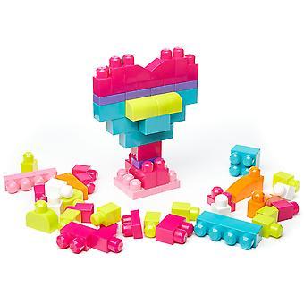 Mega Bloks Big Building Bag, Pink, 60 Pieces, 2 Pack