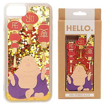 Lucky Buddha Design iPhone 6/7/8 Etui na telefon