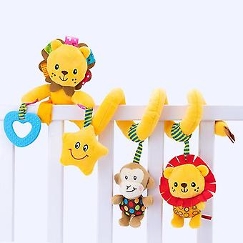 Baby Legetøj Plys Rattle Krybbe Spiral Hængende Legetøj til børn 0-12 måneder Infant Klapvogn Bed Animal