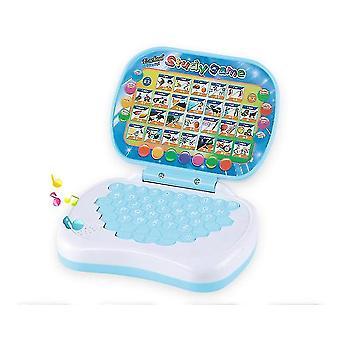 Cartoon Children's learning machine,folding English learning educational toys(Blue)