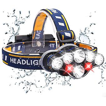 Led Headlamp, Rechargeable Usb Front Torch With Motion Detector, 6 Lighting Modes, Ipx4 Etnch, Zoomable And Waterproof