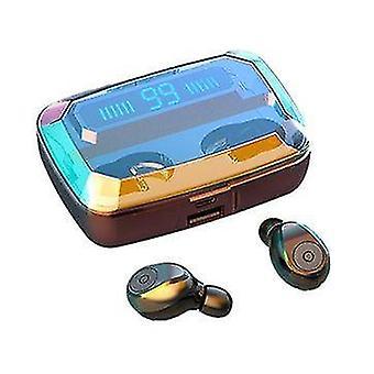 TWS bluetooth 5,0 Øretelefon Trådløse øretelefoner 3500mAh Power Bank
