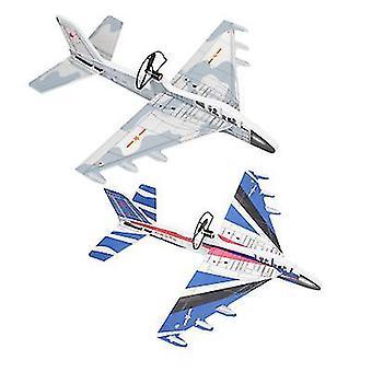 Random Color Luminous Charging Airplane Model Toy (Oo9)