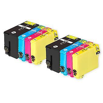 2 Ensemble de 4 cartouches d'encre pour remplacer Epson T2715 (série 27XL) Compatible/non-OEM de Go Inks (8 Encres)