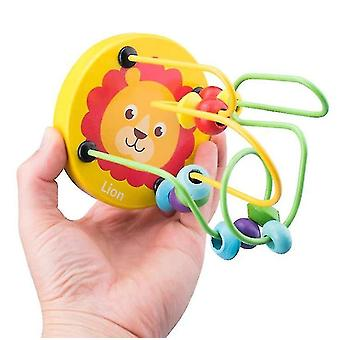 wooden Bead Maze For Baby,Early childhood educational toys,lion