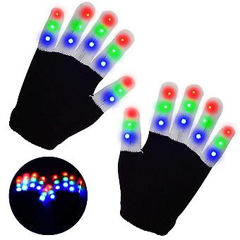 Led Warm Cosplay Gloves Halloween Glowing Gloves For Children