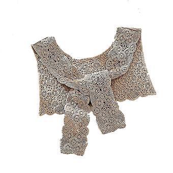 liten falsk krage avtakbar bluse blonder floral halv skjorter khaki