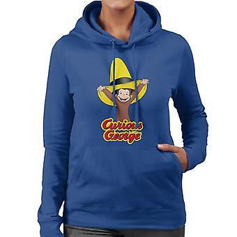 Curiosa felpa con cappuccio da donna George Happy Yellow Hat