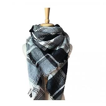 Cashmere Double-sided Color Plaid Scarf Lady Shawl(S1)