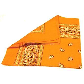 Bandana écharpe Paisley Orange