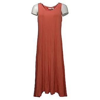 LOGO بواسطة لوري غولدشتاين فستان رايون 230 فستان ث / منديل الأحمر A350606