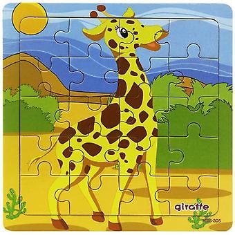 Puinen palapeli vauva lapset lelu palapelit sarjakuva dinosaurus eläin varhaisen koulutuksen lelut lapsille 9/20 pieni pala