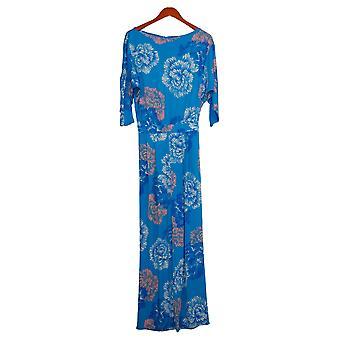 IMAN Global Chic Jumpsuits Bateau-Neck Blue 694118