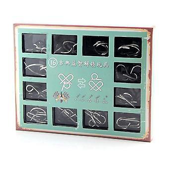 3D Metall Draht Puzzle Klassische Knoten Intelligenz Schnalle Brain Teaser Reliever Educational