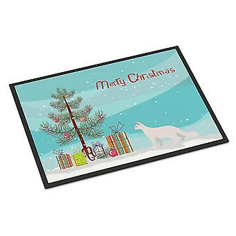 Door mats oriental longhair cat merry christmas indoor or outdoor mat 18x27
