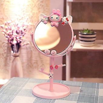 Cartoon desktop makeup mirror doppio lato desktop principessa specchio carino ragazza studente spogliatoio specchio