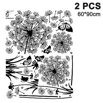 60*90 Bag Black Dandelion Wall Sticker