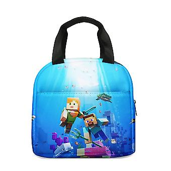 Minecraft Students Insulated Lunch Bag