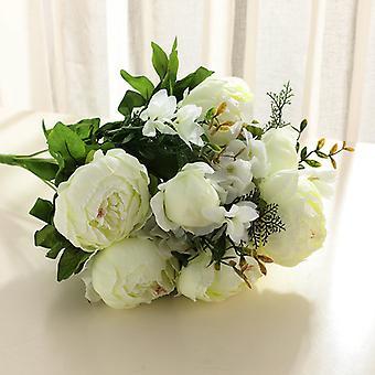 פרחים מלאכותיים 31 פרחי אדמונית בסגנון אירופאי