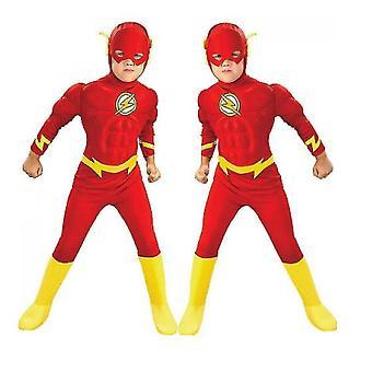 Kinder's Flash Cosplay Kostüm, Kinder's Cosplay Strumpfhosen