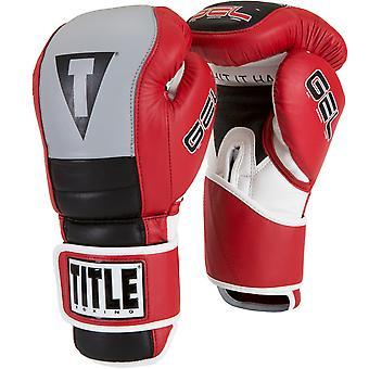 Otsikko Boxing geeli Rush mukautetun lomakkeen sovi koukku ja silmukka laukun käsineet - punainen/harmaa/musta
