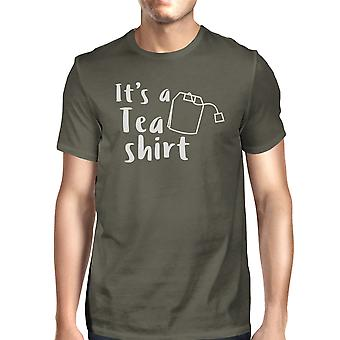 It's A Tea Shirt Men's Dark Grey Funny Graphic Witty Quote T Shirt
