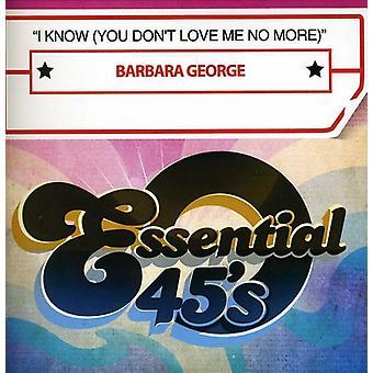 Barbara George - yo se (que no amor yo No más) [CD] importación de Estados Unidos