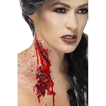 Wound laceration LaTeX with fake blood for Halloween