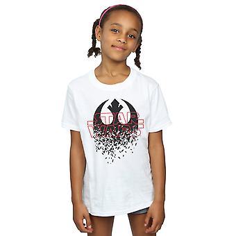 スター ・ ウォーズの女の子最後のジェダイを粉々 にエンブレム t シャツ