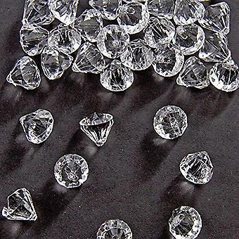 Enfeites de mesa de diamante de mesa 20x20 mm confetti do diamante